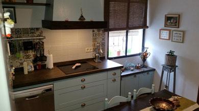 cocina vintage azul