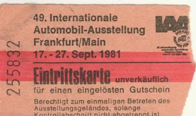 IAA 1981, damals Neuwagen geguckt, heute H-Kennzeichen drangeschraubt :-)