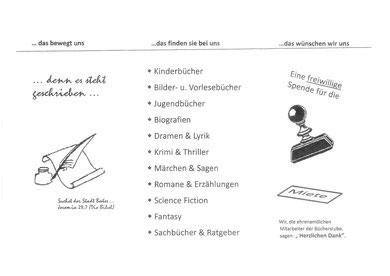 Flyer Bücherstube Bad Nauheim, Sprudelhof - Rückseite Badehaus 3 (Blickrichtung Thermalbad)