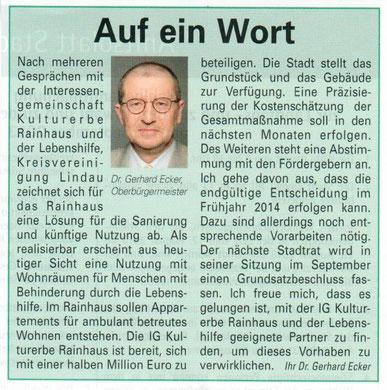 Bürgerzeitung vom 31.08.2013