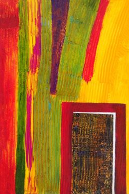 """SAS_15-06 """"Die offene Tür oder Ich bin die Tür""""  (90x60 cm)"""