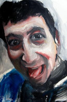 La burla 3. Oleo sobre lienzo. 90x73 cm    © Toño Velasco 2011