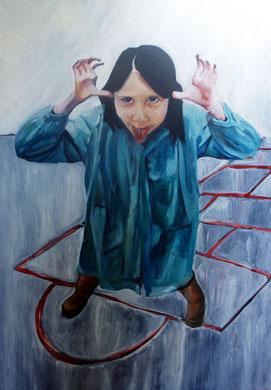 La burla 13. Oleo sobre lienzo. 160x114 cm    © Toño Velasco 2011