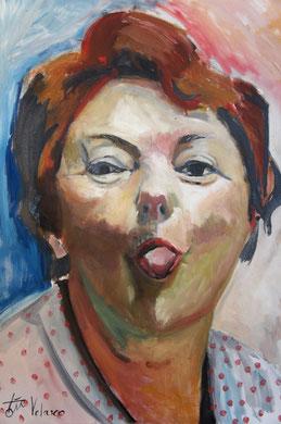 La burla 6. Oleo sobre lienzo. 90x73 cm    © Toño Velasco 2011