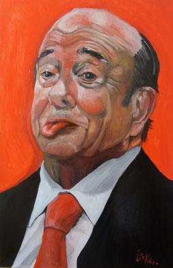 Don Emilio, el banquero, Oleo sobre lienzo. 120x80 cm    © Toño Velasco 2012