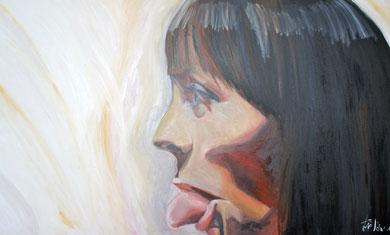 La burla 14. Oleo sobre lienzo. 167x97 cm    © Toño Velasco 2011