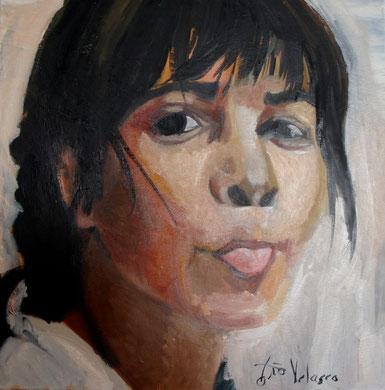 La burla 5. Oleo sobre lienzo. 60x60 cm    © Toño Velasco 2011