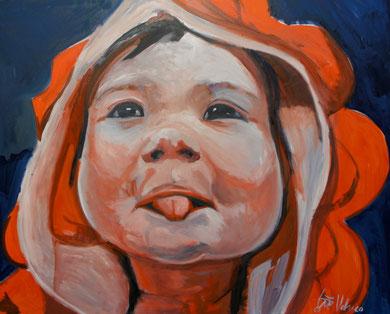 La burla 15. Oleo sobre lienzo. 167x97 cm    © Toño Velasco 2011