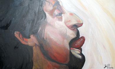 La burla 12. Oleo sobre lienzo. 167x97 cm    © Toño Velasco 2011