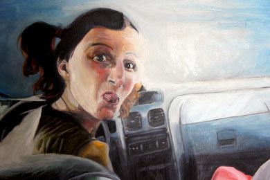 La burla 2. Oleo sobre lienzo. 90x73 cm    © Toño Velasco 2011