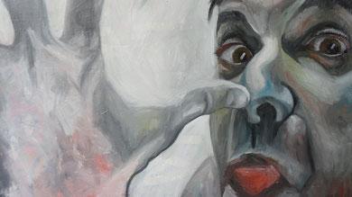 La burla . Oleo sobre lienzo. 140x100 cm    © Toño Velasco 2011
