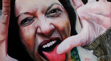 La burla . Oleo sobre lienzo. 200x120 cm    © Toño Velasco 2011