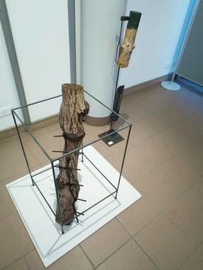 Parralelwelten ... Holz  eingewachsenes Metall ...