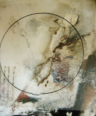 Vanitas ..Metamorphose ..Materialbild a. LW. 60x50 unter Plexiglas