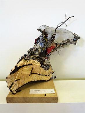 LUZIFER 1 ...oder Weltenbrand ? für Ausstellung Chaos und Struktur