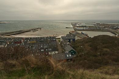 Blick vom Mittelland über den Hafen