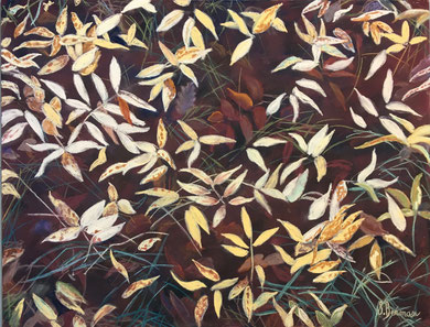 Bijoux épars pastel  65x50 Sylvie Berman artiste peintre