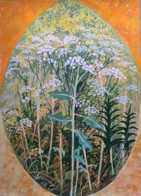 Gloire du champ  Pastel 80x60 cm Sylvie Berman artiste peintre