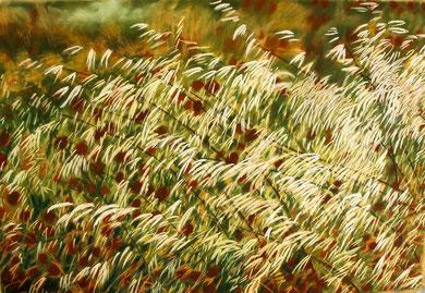 Follavoines, pastel 110x70 Sylvie Berman artiste peintre REF