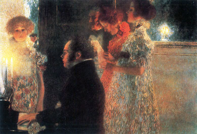 Schubert at the Piano II. Gustav Klimt, 1899.