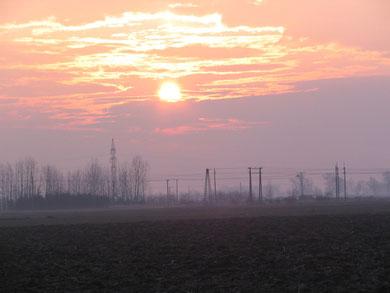 01.03.09 07:09 Sonnenaufgang in Kapuvar