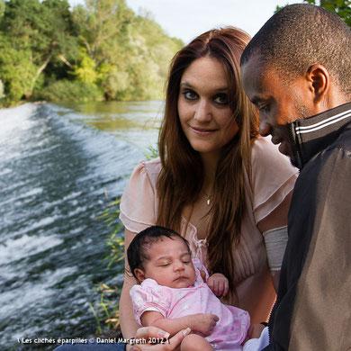 Morgane et Léon et leur fille