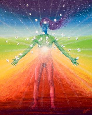 Tout l'univers en soi  100x81cm  Vendue à Christina de la Osa à Grande Synthe