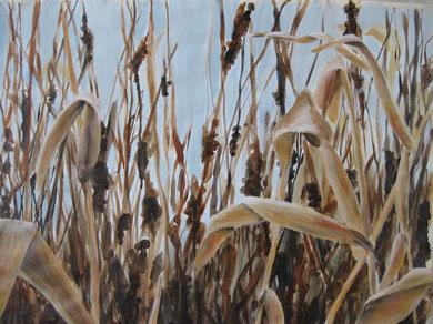 Am Ufer (2013, Acryl/Papier, 48x63 cm)