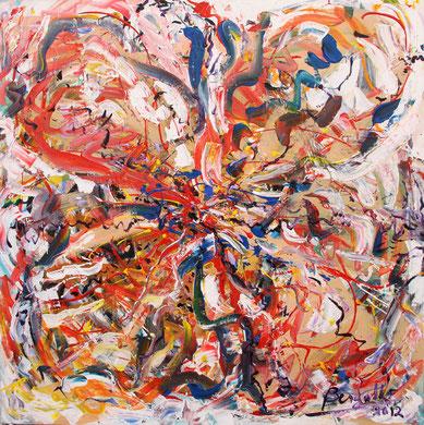 Fleur N° 23, acrylique sur toile, 100 x 100 cm, 2012