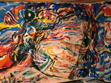 « Salomé » fresque (détail) - photo Frederik van Kleij