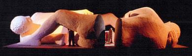 """Etude Installation-Spectacle pour le projet """"Les Immatériaux"""" au Centre Georges Pompidou, Paris, 1984"""