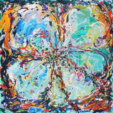 Fleur  N° 10, acrylique sur toile, 120 x 100 cm, 2011