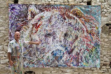 L'Ours, acrylique sur toile, 310 x 210 cm, 2013