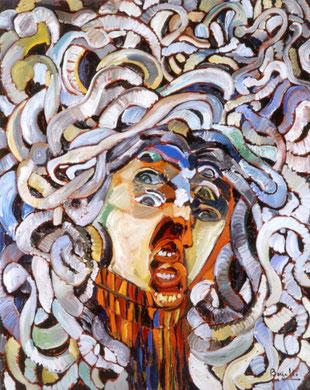 Medusa, huile sur toile, 80 x 100 cm, 1981.