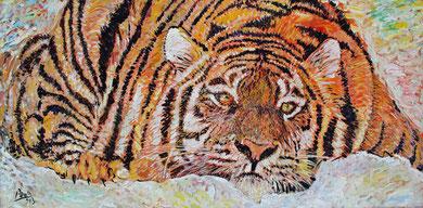 Le Tigre, acrylique, 200 x 100 cm 2013