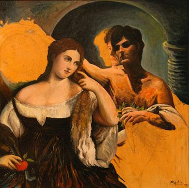 Santiago non finito, acrylique sur toile, 100 x 100 cm, 1981.