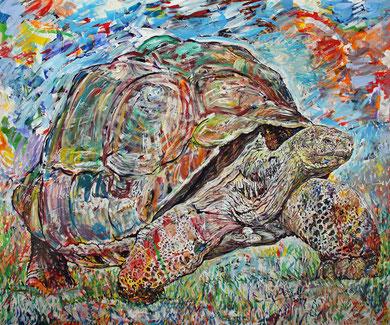 La Tortue, acrylique sur toile, 120 x 100 cm, 2014