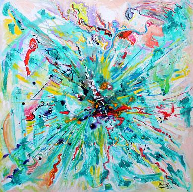 Fleur N° 19, acrylique sur toile, 100 x 100 cm, 2012