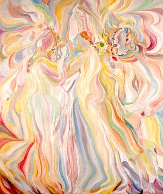 Les Trois Graces, huile sur toile, 130 x 150 cm, 1981.