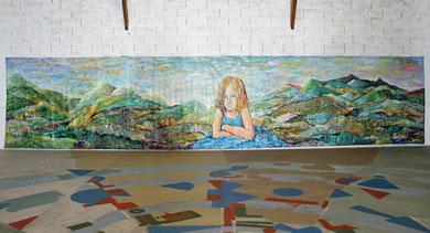 Alice et l'Infini, acrylique sur toile, 10m x 2m15, 2016
