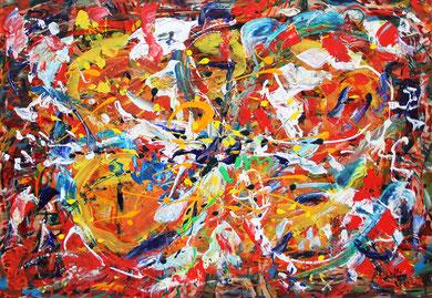 Fleur  N° 13, acrylique sur toile, 100 x 100 cm, 2011
