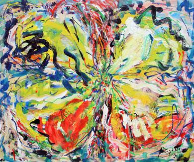 Fleur  N° 8, acrylique sur toile, 120 x 100 cm, 2011