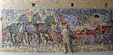 Renaissance, acrylique sur toile, 665 cm x 216 cm, 2013