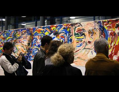 « Salomé » fresque,  acrylique sur toile, 10m x 2m15, Spazio MIL Milan, 2009  - photo: Frederik van Kleij