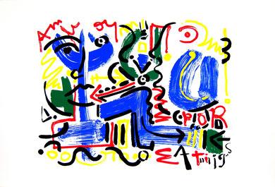 Sérigraphie - Siempre - 63 x 92 cm