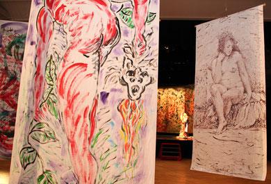 Armando au fil du temps - Installation / Exposition à La Coupole, Saint-Loubès - mars 2012 - photo Frederik van Kleij