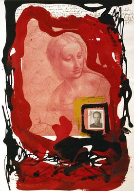 Autobiografia 1, techniques mixte, 50 x 65 cm, 1984.