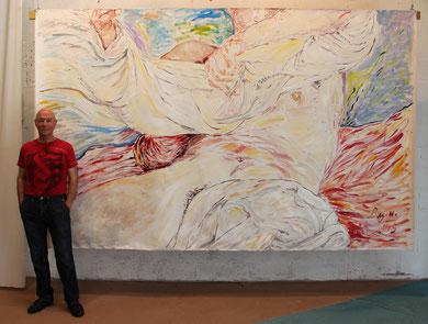 Poussières d'Etoiles, acrylique sur toile, 3.40 m x 2.10 m, 2015