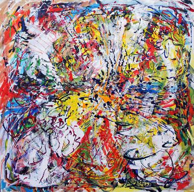 Fleur N° 20, acrylique sur toile, 100 x 100 cm, 2012