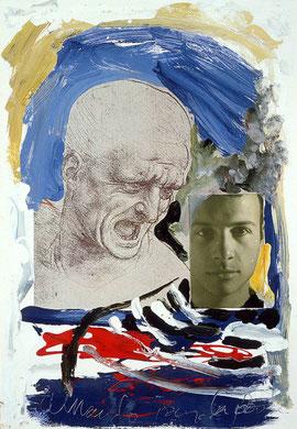 Autobiografia 2, techniques mixte, 50 x 65 cm, 1984.